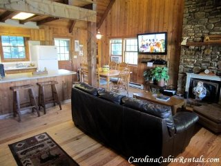 3BR Mountain Cabin with Game Room, Flat Screen TV, Stone Wood Burning, Blowing Rock