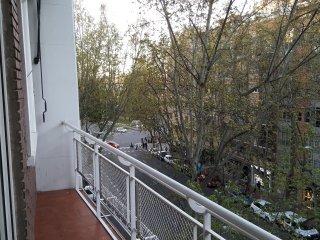 Terraza con vistas al Paseo de las Delicias