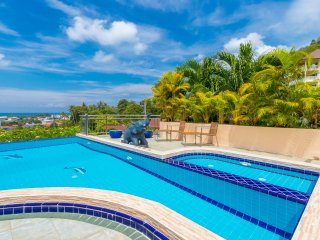Fabulous private pool and sunbathing area with Ocean and Sunset Views