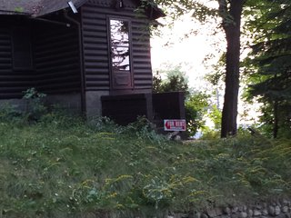 Glaser's Glenn Log Cabin Resort Home (Direct White Lake View)-Cabin #1/2 bedroom, Whitehall
