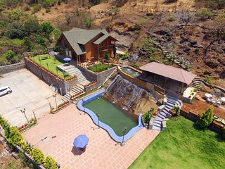 It is a Russian imported WOODEN VILLA  with elegant rooms, a staff always at you, Khandala