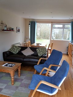 View across lounge/diner with rear garden beyond