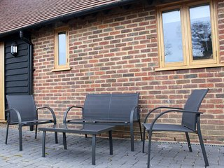 Seating at front of cottage