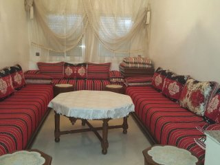 3 bedrooms appartments 2 singles and 1 double bedroom with a big salon and dinin