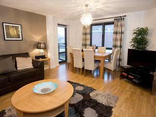 Stylishly decorated and with great views from the dining table the lounge leads onto the balcony