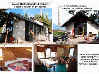 Grande maison EMBRUN, 7 pièces: ski, lac, soleil !, Embrun
