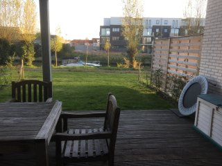 Appartement view on river Leie near by Gent, Deinze