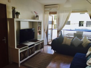 Lounge with flat-screen TV, free-sat, DVD and air-con.