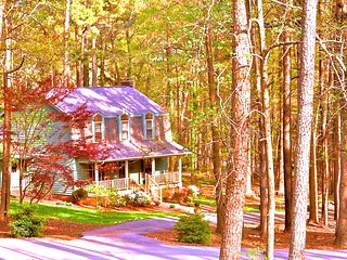 Cozy 3 bedroom 2.5 bath home on 1 acre wooded lot, Raleigh