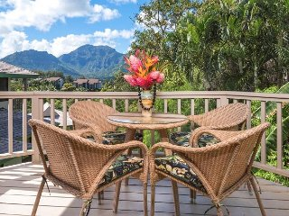 Beautiful and Upgraded, Mountain/Waterfall Views,  Hanalei Bay Villas #2