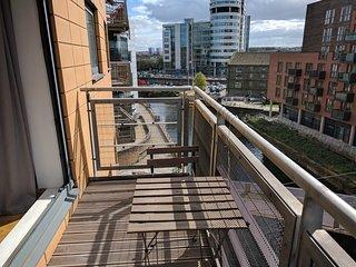 Sunny Balcony Overlooking River