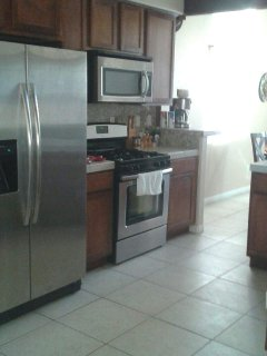 Cantina kitchen with brand new stainless steel appliances