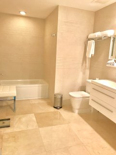 Bathroom with hotel quality towels included