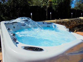 The Infinity Hot Tub, For Up To 8 People, With Waterfall & Massage Jets, Adds A  Touch Of Luxury