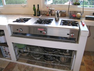 Commercial 3-Burner gas stove
