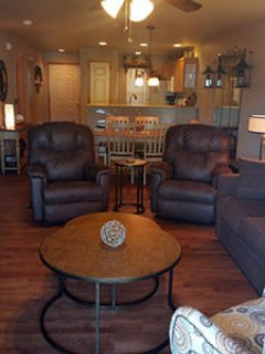 Living Room has 2 rocker/recliners and plenty of seating for everyone