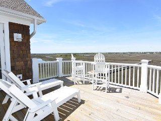 Marsh Madness - Enjoy panoramic views from the attractively furnished decks
