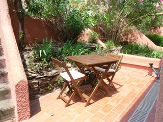 Patio at the front of the house