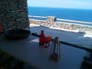 Andros Island Amazing Sea View LODGE + Pool Sleeps 4