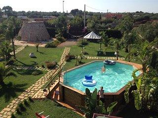 Villa Cardone con piscina 500 mt sabbia