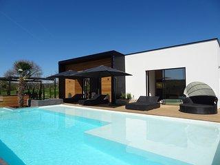 MAGNIFIQUE VILLA, piscine chauffée, à deux pas des plages de la DORDOGNE, Sainte Mondane