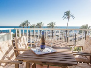 Elegant beach front property with stunning views of Sitges.