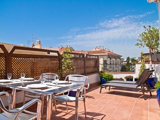 Great private terrace in Sitges.