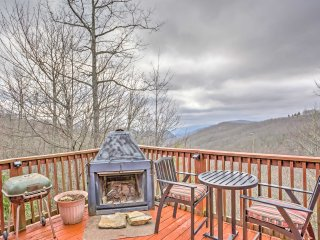 NEW! 2BR Maggie Valley Cabin w/ Forest Views!