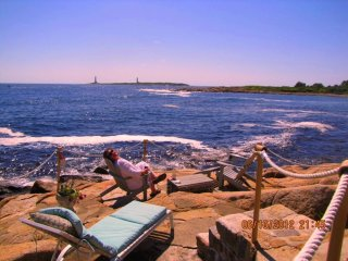 Ocean Front 2 or 3 BR House- Directly on the Rocks, Rockport