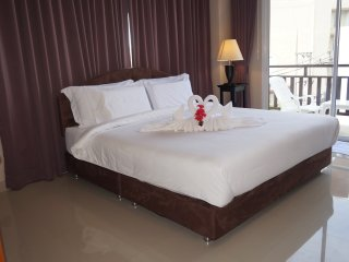 Kata Beachwalk Deluxe Double Room with large Balcony