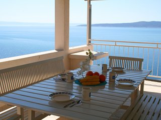 Stunning sea view from large dining terrace, 2 bedroom apartment