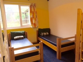 Accommodation in the bedrooms comes in a mixture of single and bunk beds