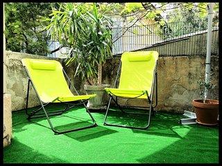 2 pièces 35m², 1 chambre, terrasse 15m², parking, calme, plage,