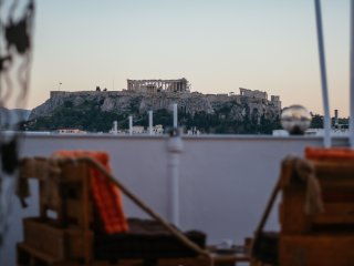 Stunning  view of Acropolis and Athens