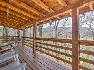 NEW! 3BR Waynesville Cabin w/ Decks & Hot Tub!