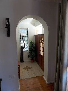 Front door and entrance hall to the property