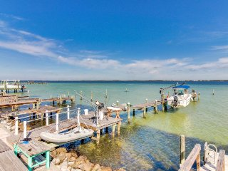 Waterfront getaway w/ private deck, dock, & beach access - snowbirds welcome!