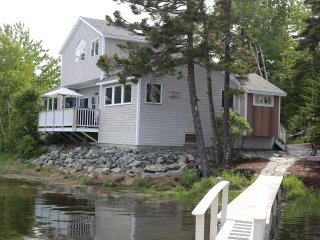 Waterfront Front Home on Bass Harbor Tidal Bay