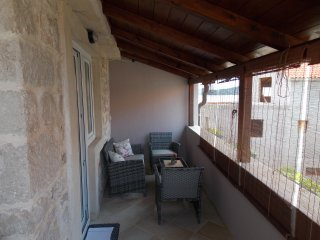 Apartments Tina-Two Bedroom Apartment with Balcony and Partial Sea View-A1, Betina