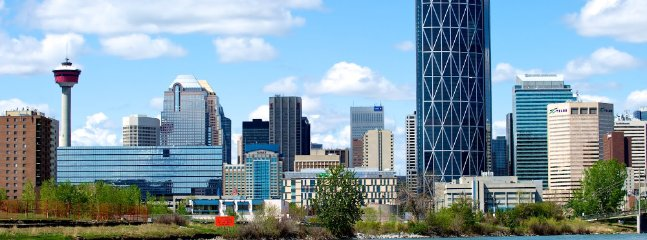 This the heart of downtown Calgary..