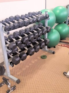 The Gym!! All you need to stay in shape...