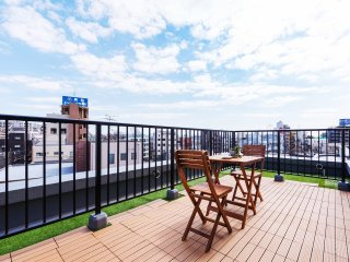 NEW!Central Tokyo!Huge roof balcony!1min walk sta!