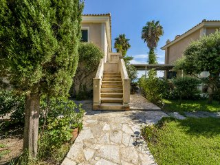 Kefalonia Beach House Villa Nausika 10m from the sea viewing mountain and sea, Kounopetra