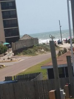 The view from unit A to the Beach!