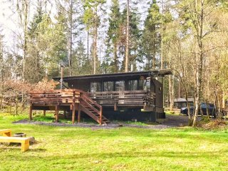 Secluded Forest Log Cabin with Hot Tub at shores of  Loch Awe