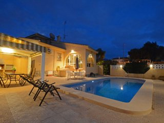 Large villa with private pool, garden with orange and lemon trees.