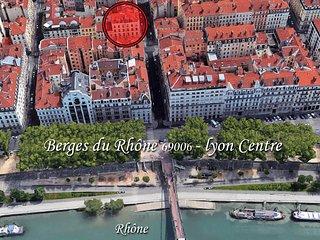Bas Prix , Lyon - touristique à pied, berges du Rhône dernier étage / Ascenseur