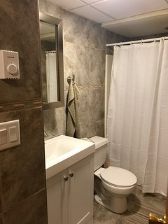 Brand new remodeled bathroom.