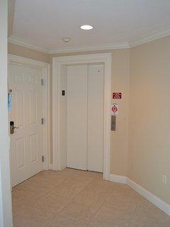 Elevator opens in unit!