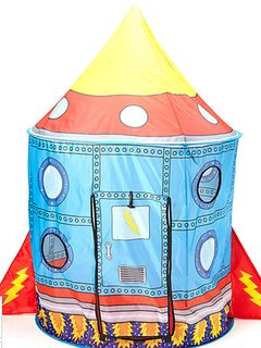 Children love to play in the rocket ship tent.